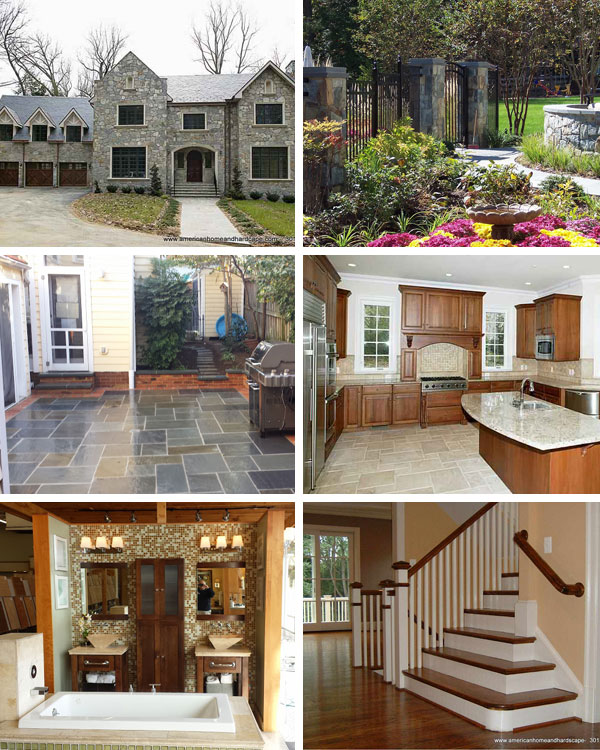 American Home and Hardscape Collage